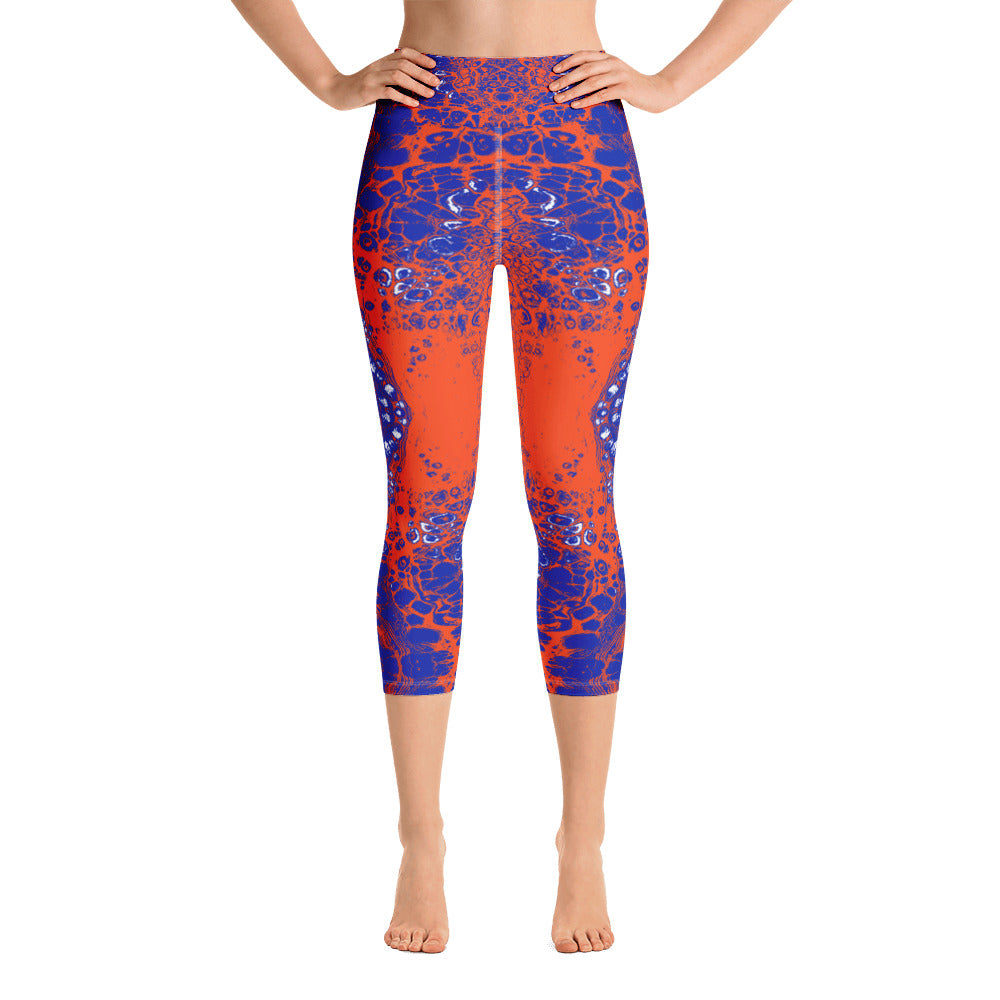 Orange & Blue Combo #3 Lace Capri