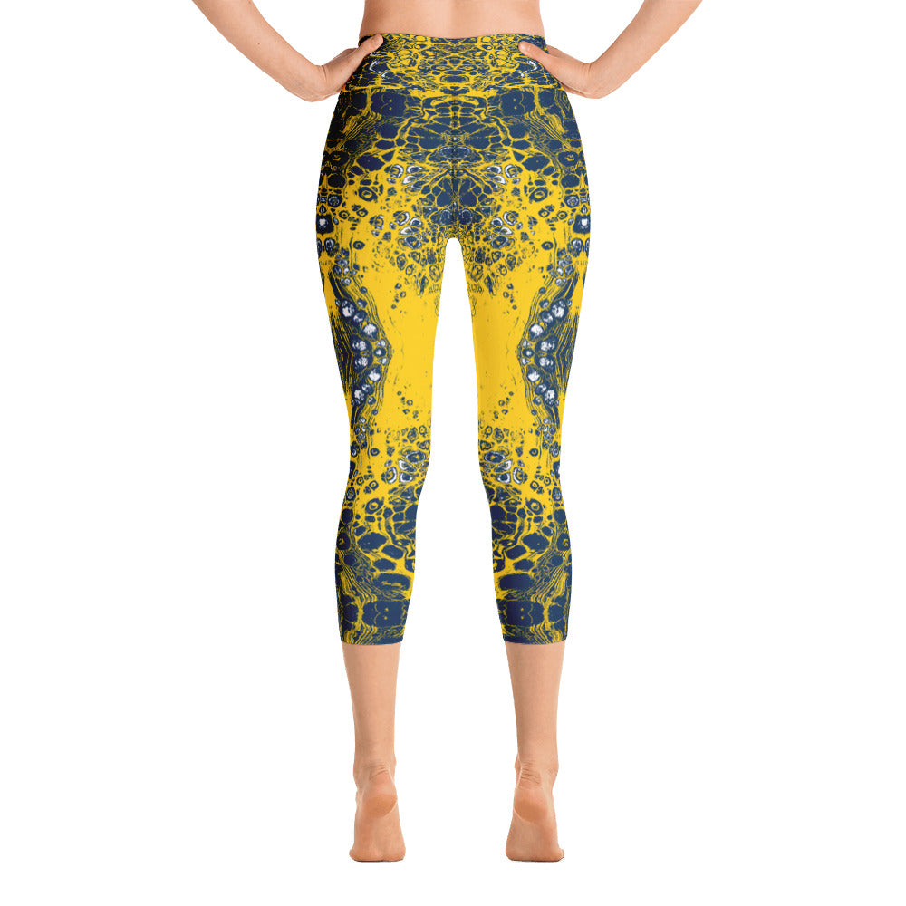 Navy & Yellow Combo #1 Lace Capri