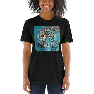 Teal Tiger Triblend T-shirt