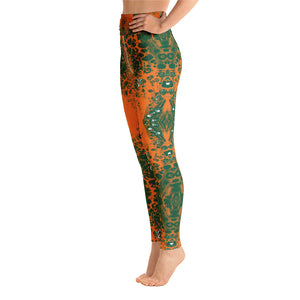 Green & Orange Lace Full Length