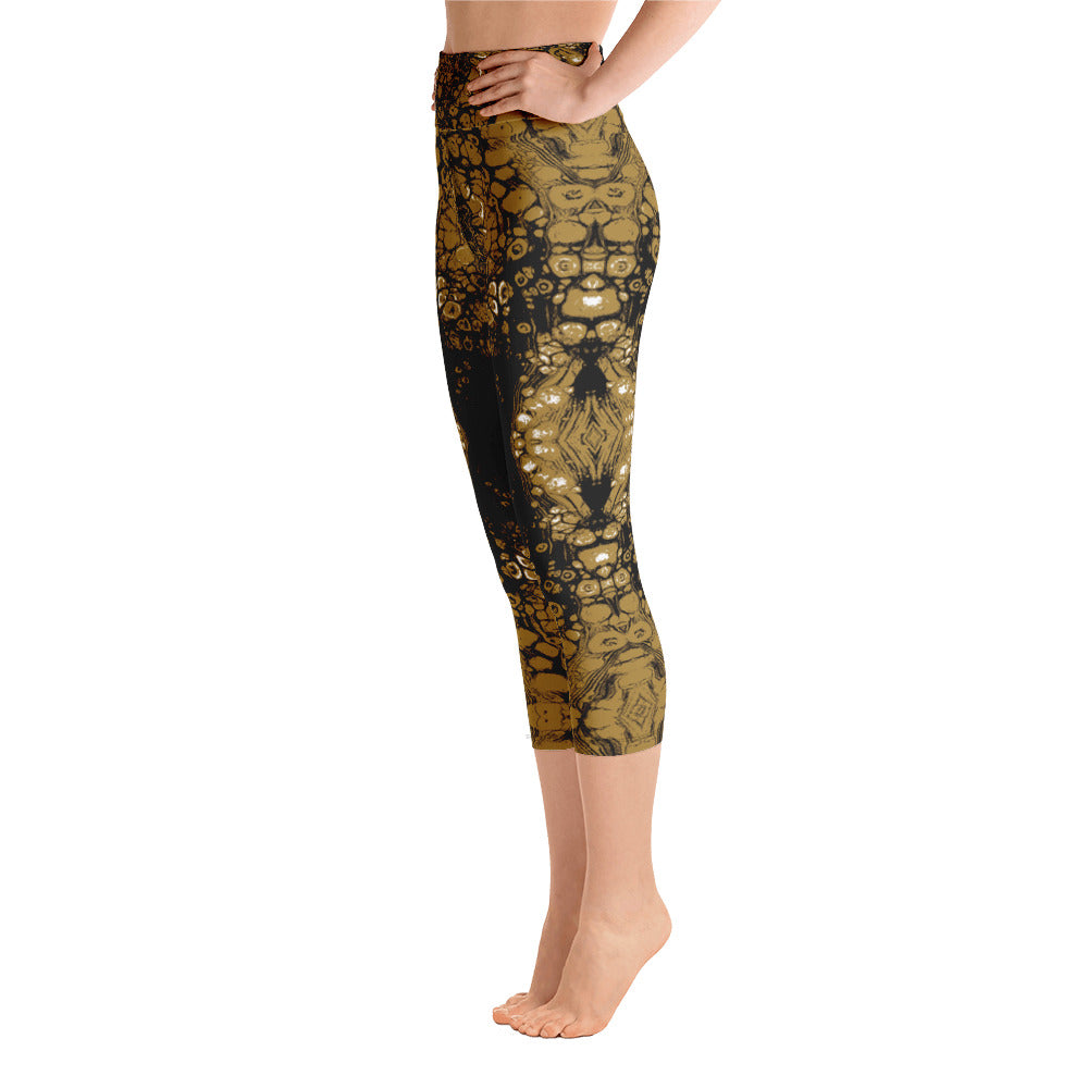Gold & Black Combo #1 Lace Capri