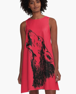 Game-Day Howling Wolf Dress