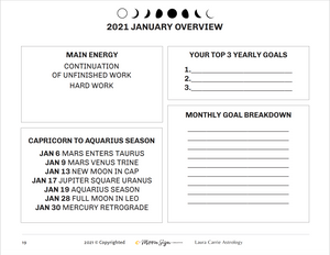 2021 Goal Setting Using Astrology Workbook + Forecast Journal