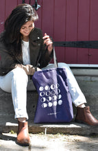 Load image into Gallery viewer, Moon Phases Deep Purple Tote