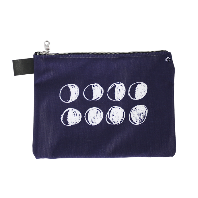 Moon Phases Deep Purple Zip Pouch