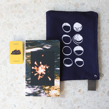 Load image into Gallery viewer, Moon Phases Deep Purple Zip Pouch
