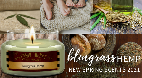 Bluegrass Hemp Scented Candle Candleberry Candles