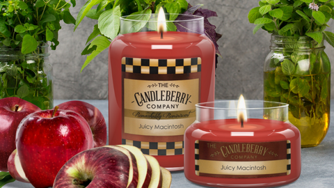 Juicy Macintosh Apple Scented Candle Candleberry