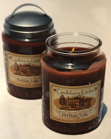 Old school Hot Maple Toddy Candle design