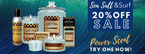 Sea Salt and Surf Scented Candle Sale - Candle of the Month - Sea Salt & Surf - Powerful Candle