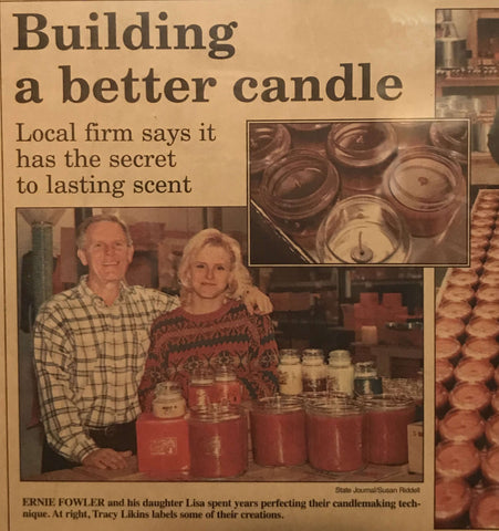 Newspaper cliping about start of Candleberry
