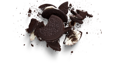 Crumbled Oreo Cookie Ice Cream Topping Cookie and Cream