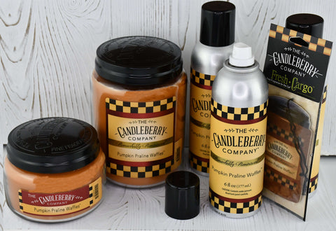 Assorted Pumpkin Praline Waffle scented products