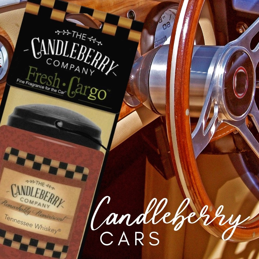 Candleberry hanging scented car freshener fragrance fresh cargo