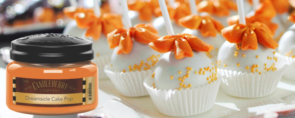 Vanilla Cake Pop, Orange Vanilla, Smooth Scented Candle by Candleberry