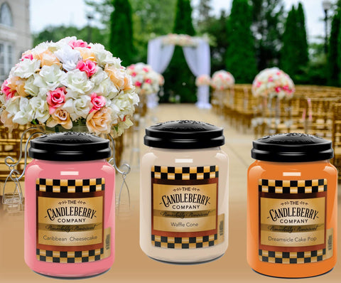 Matching candles to Wedding colors