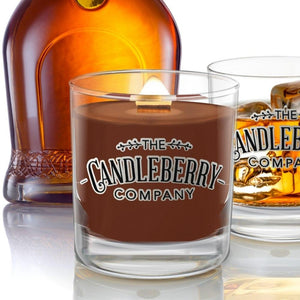 Grapes & Grains - Kentucky Bourbon 10 oz. Rocks Glass 10 oz. Small Jar Candle The Candleberry Co.