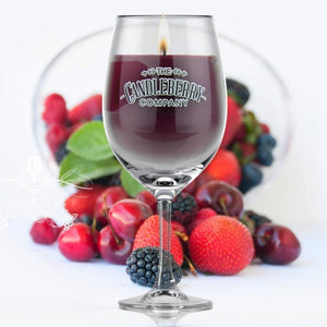 Grapes & Grains - Blackberry, 10 oz Wine Glass Candle Grapes & Grains The Candleberry® Candle Company