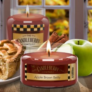 Apple Brown Betty™, 26 oz. Jar, Scented Candle 26 oz. Large Jar Candle The Candleberry Candle Company
