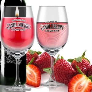 Grapes & Grains - Strawberry, 10 oz Wine Glass Candle Grapes & Grains The Candleberry® Candle Company