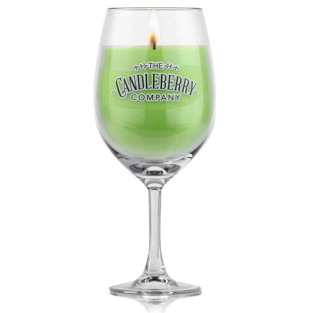 Grapes & Grains - Margarita, 10 oz Wine Glass Candle Grapes & Grains The Candleberry Co.