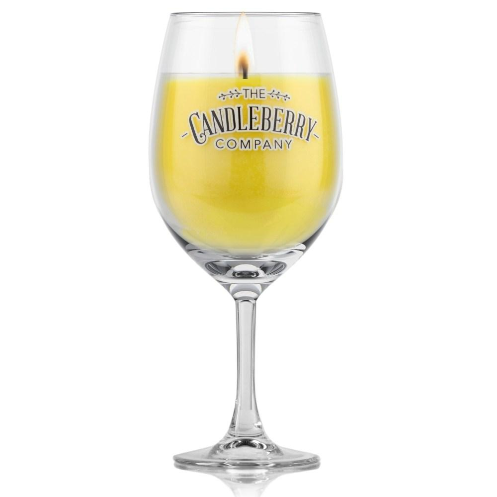 Grapes & Grains - Pineapple, 10 oz Wine Glass Candle Grapes & Grains The Candleberry® Candle Company