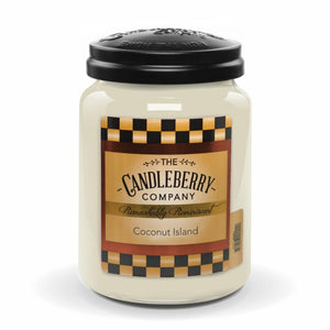 Coconut Island™, 26 oz. Jar, Scented Candle 26 oz. Large Jar Candle The Candleberry Candle Company