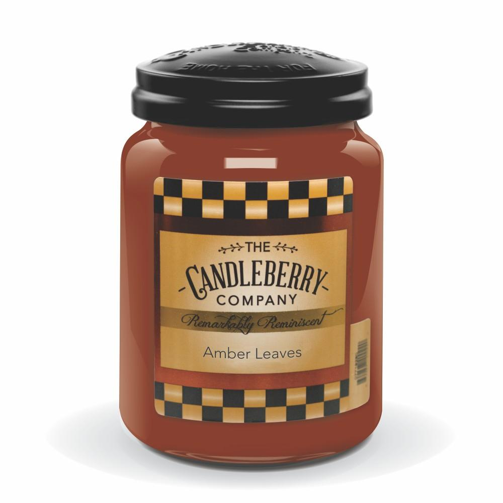 Amber Leaves™, 26 oz. Jar, Scented Candle 26 oz. Large Jar Candle The Candleberry Candle Company