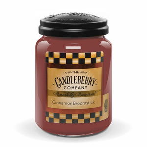 Cinnamon Broomstick™, 26 oz. Jar, Scented Candle 26 oz. Large Jar Candle The Candleberry Candle Company