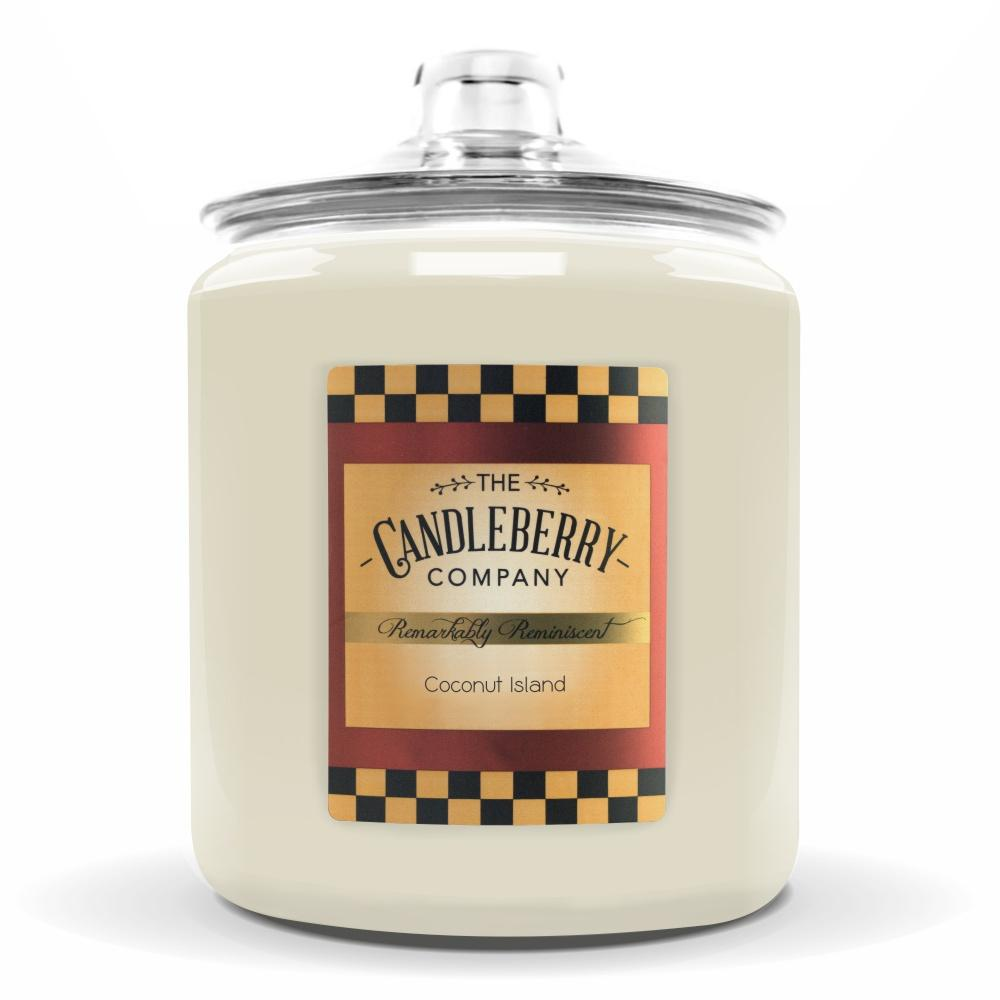 Coconut Island™, 160 oz. Jar, Scented Candle 160 oz. Cookie Jar Candle The Candleberry Candle Company