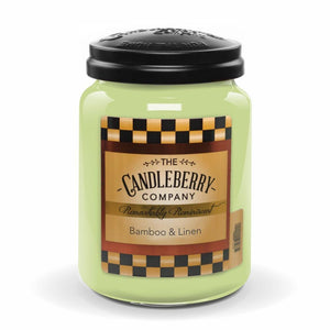 Bamboo & Linen™, 26 oz. Jar, Scented Candle 26 oz. Large Jar Candle The Candleberry Candle Company