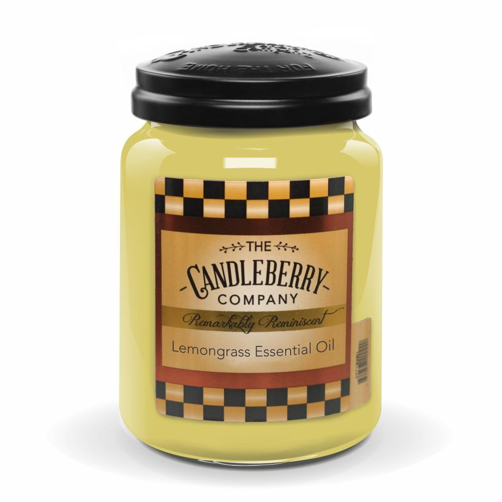 Lemongrass Essential Oil™, 26 oz. Jar, Scented Candle 26 oz. Large Jar Candle The Candleberry Candle Company