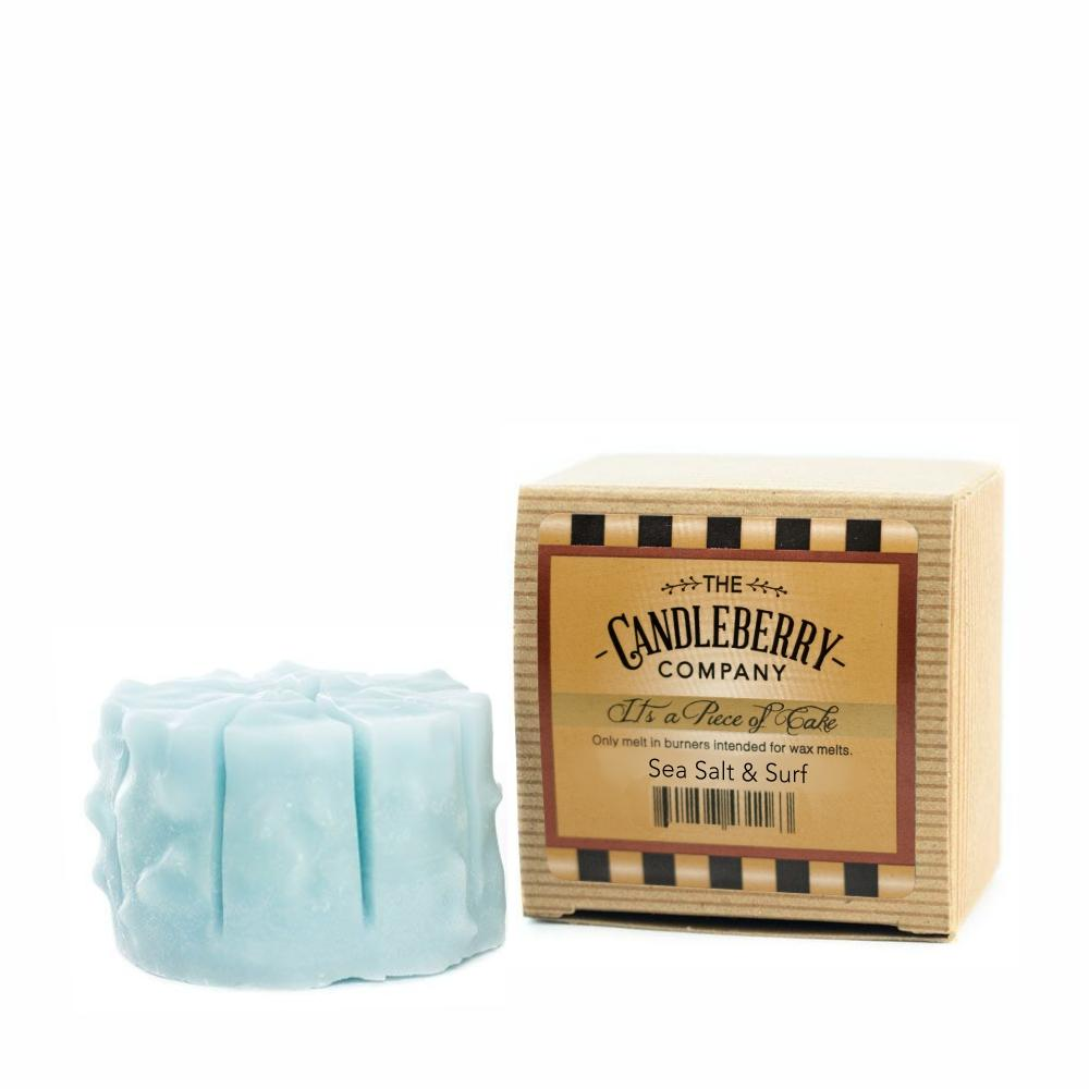 "Sea Salt & Surf™, ""It's a Piece of Cake"" Scented Wax Melts ""It's a Piece of Cake""® Wax Melts The Candleberry Candle Company"