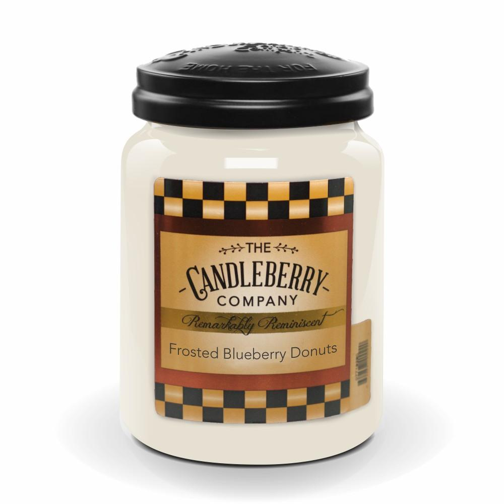 Frosted Blueberry Donuts™, 26 oz. Jar, Scented Candle 26 oz. Large Jar Candle The Candleberry Candle Company
