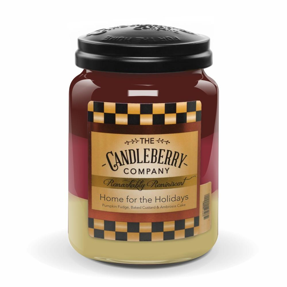 Home For The Holidays™, 26 oz. Jar, Scented Candle 26 oz. Large Jar Candle The Candleberry Candle Company