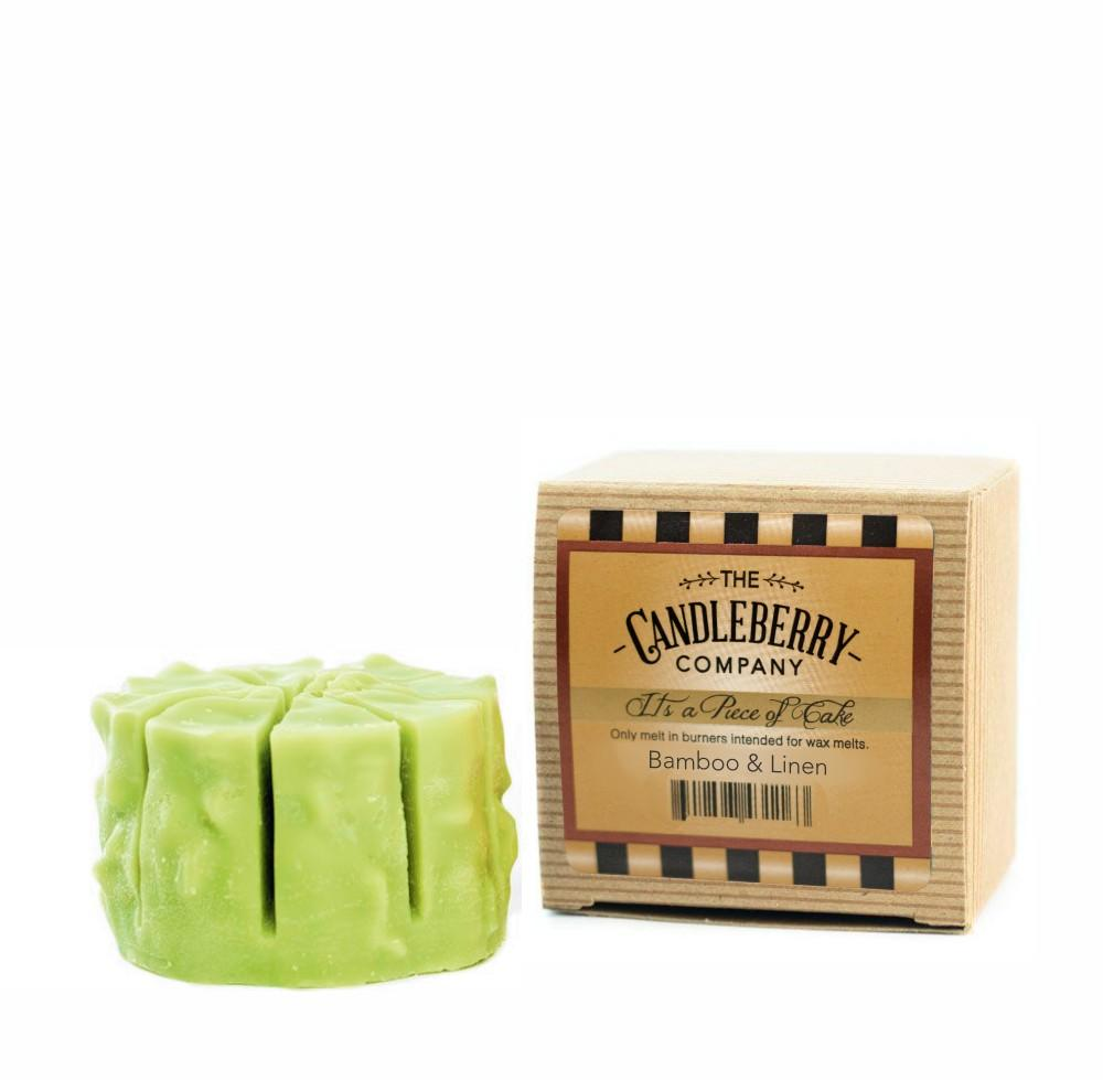 "Bamboo & Linen™, ""It's a Piece of Cake"" Scented Wax Melts ""It's a Piece of Cake""® Wax Melts The Candleberry Candle Company"