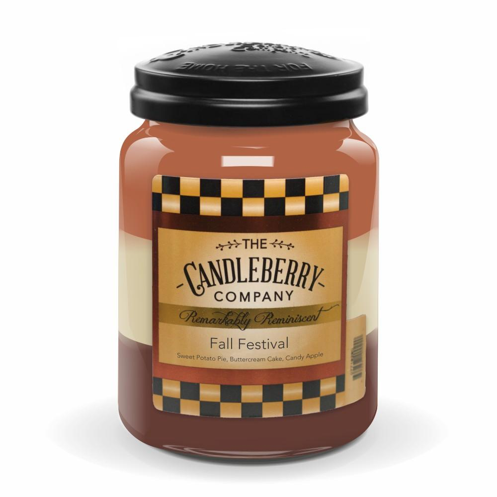Fall Festival™, 26 oz. Jar, Scented Candle 26 oz. Large Jar Candle The Candleberry Candle Company