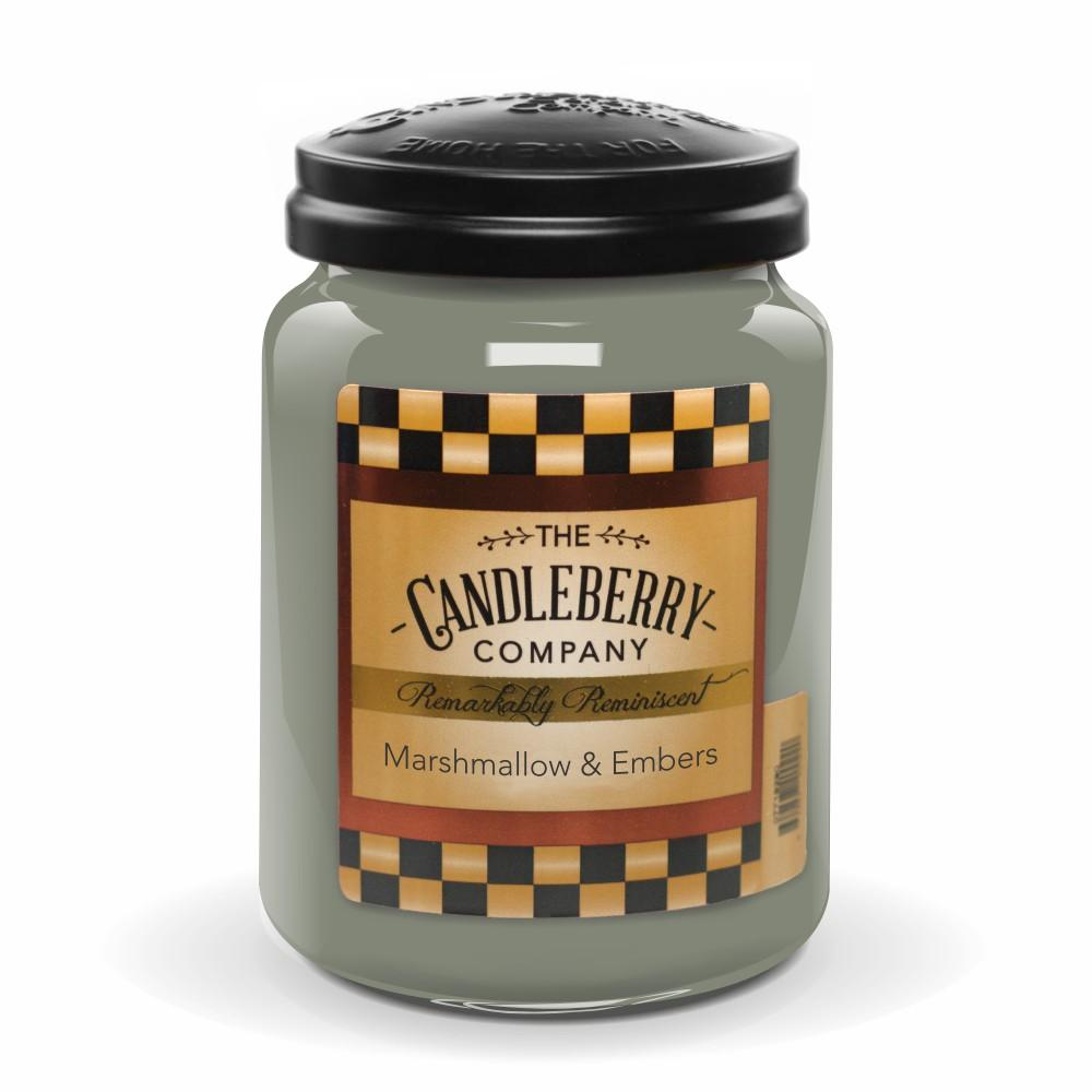 Marshmallow & Embers™, 26 oz. Jar, Scented Candle 26 oz. Large Jar Candle The Candleberry Candle Company