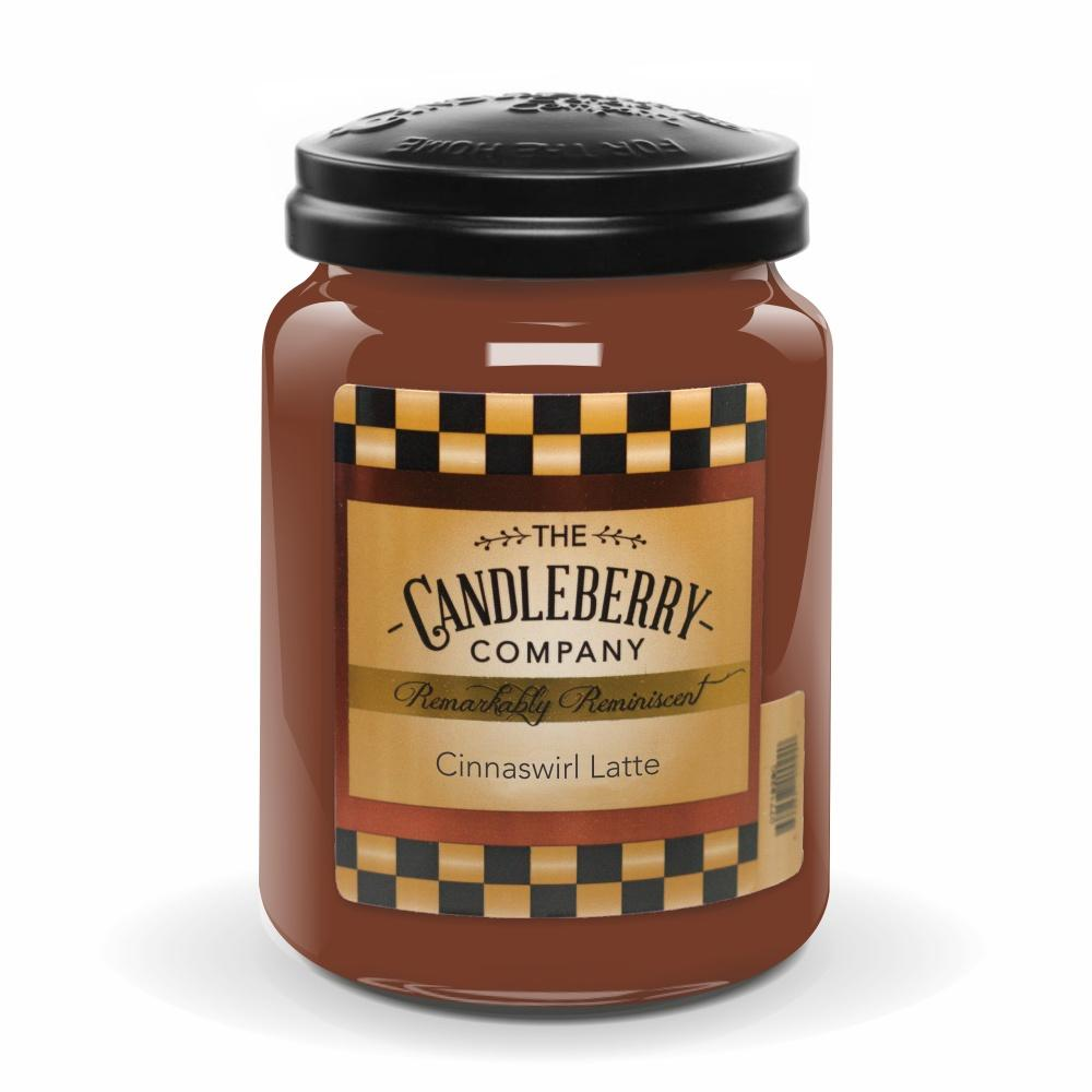 Cinnaswirl Latte™, 26 oz. Jar, Scented Candle 26 oz. Large Jar Candle The Candleberry Candle Company