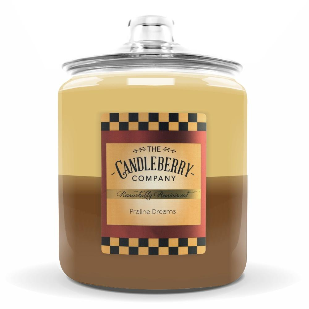 Praline Dreams™, 160 oz. Jar, Scented Candle 160 oz. Cookie Jar Candle The Candleberry Candle Company