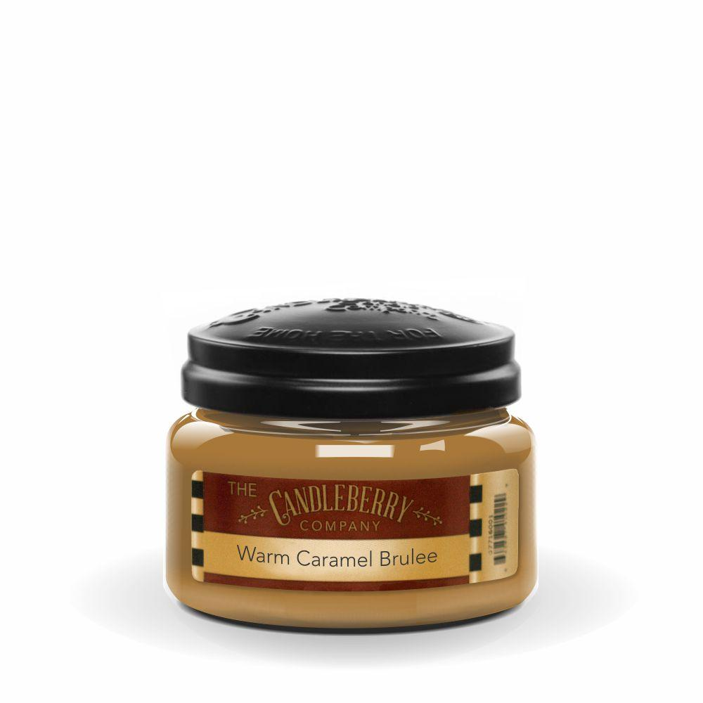 Warm Caramel Brulee™, 10 oz. Jar, Scented Candle 10 oz. Small Jar Candle The Candleberry Candle Company