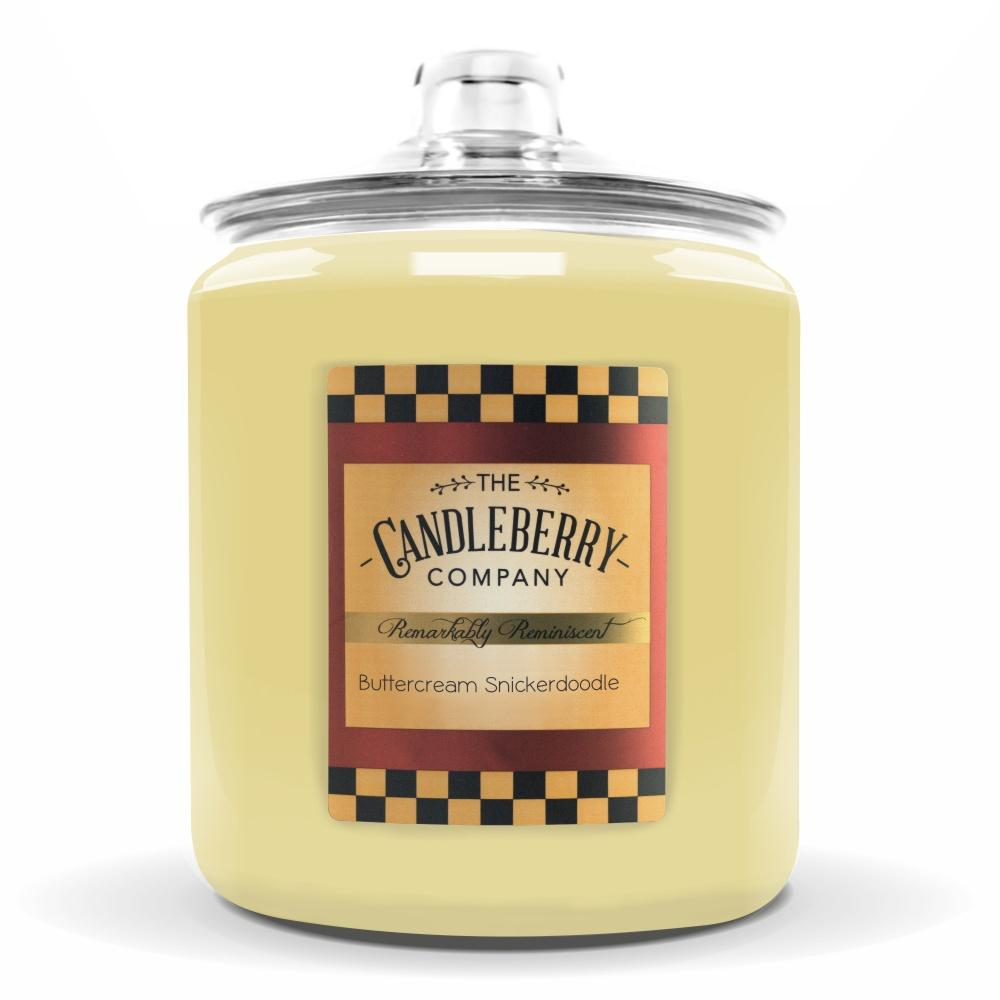 Buttercream Snickerdoodle ™, 160 oz. Jar, Scented Candle 160 oz. Cookie Jar Candle The Candleberry Candle Company