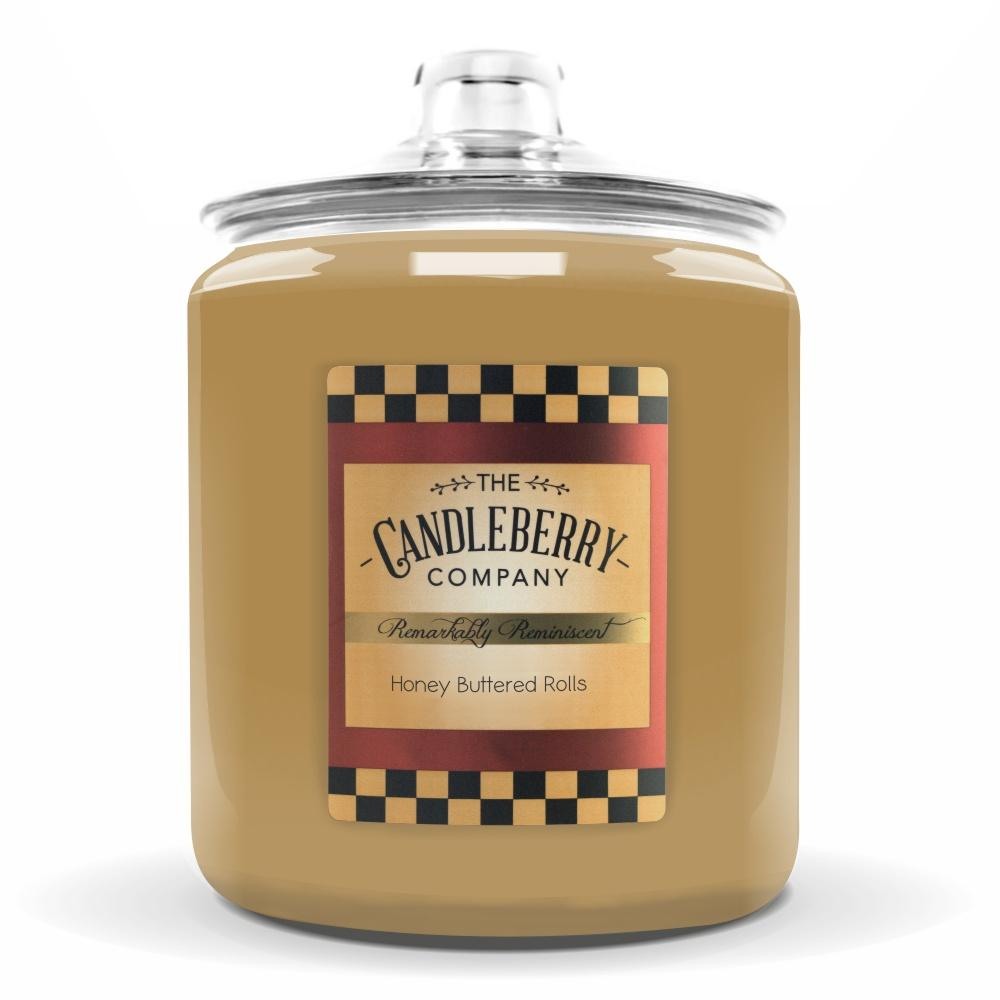 Honey Buttered Rolls™, 160 oz. Jar, Scented Candle 160 oz. Cookie Jar Candle The Candleberry Candle Company