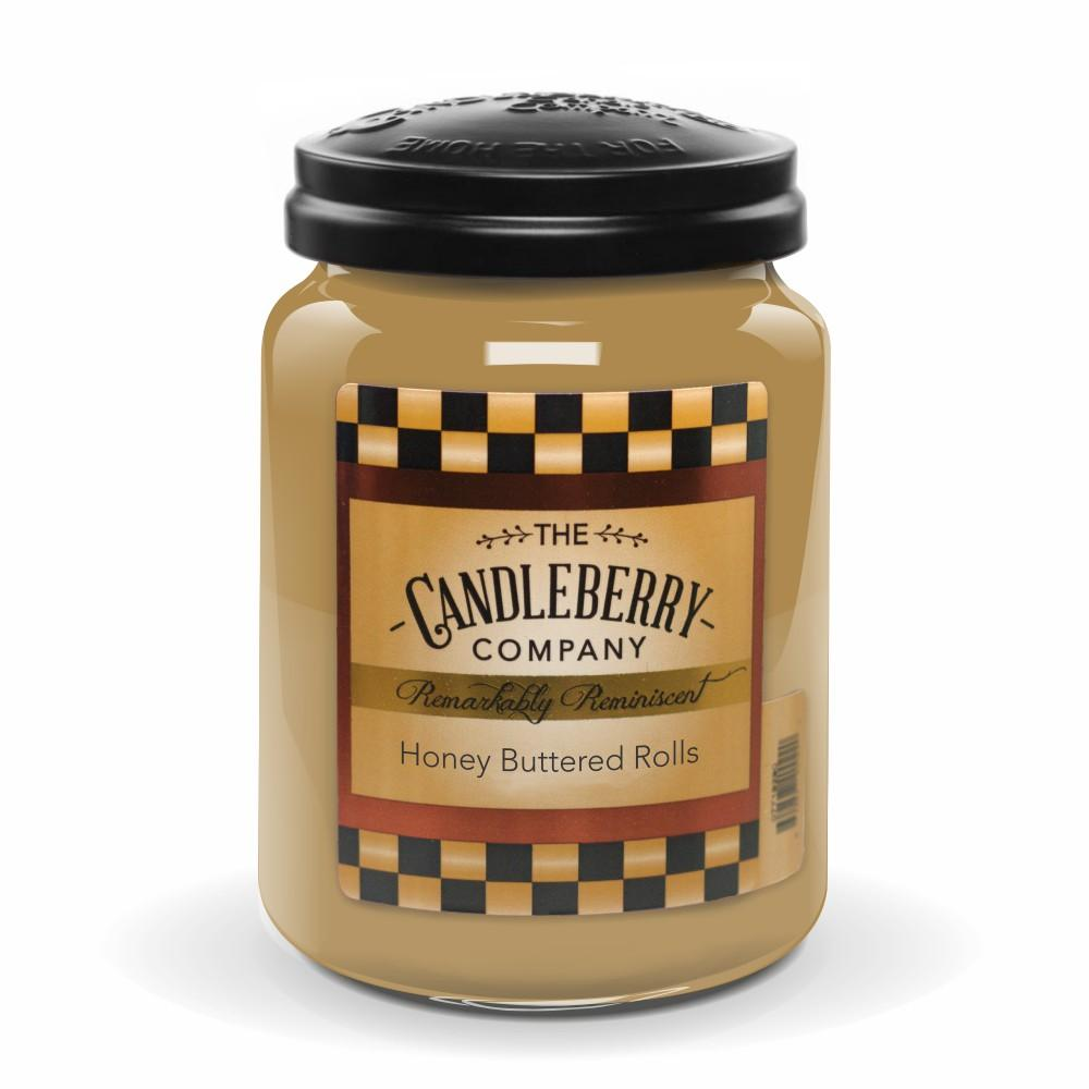 Honey Buttered Rolls™, 26 oz. Jar, Scented Candle 26 oz. Large Jar Candle The Candleberry Candle Company