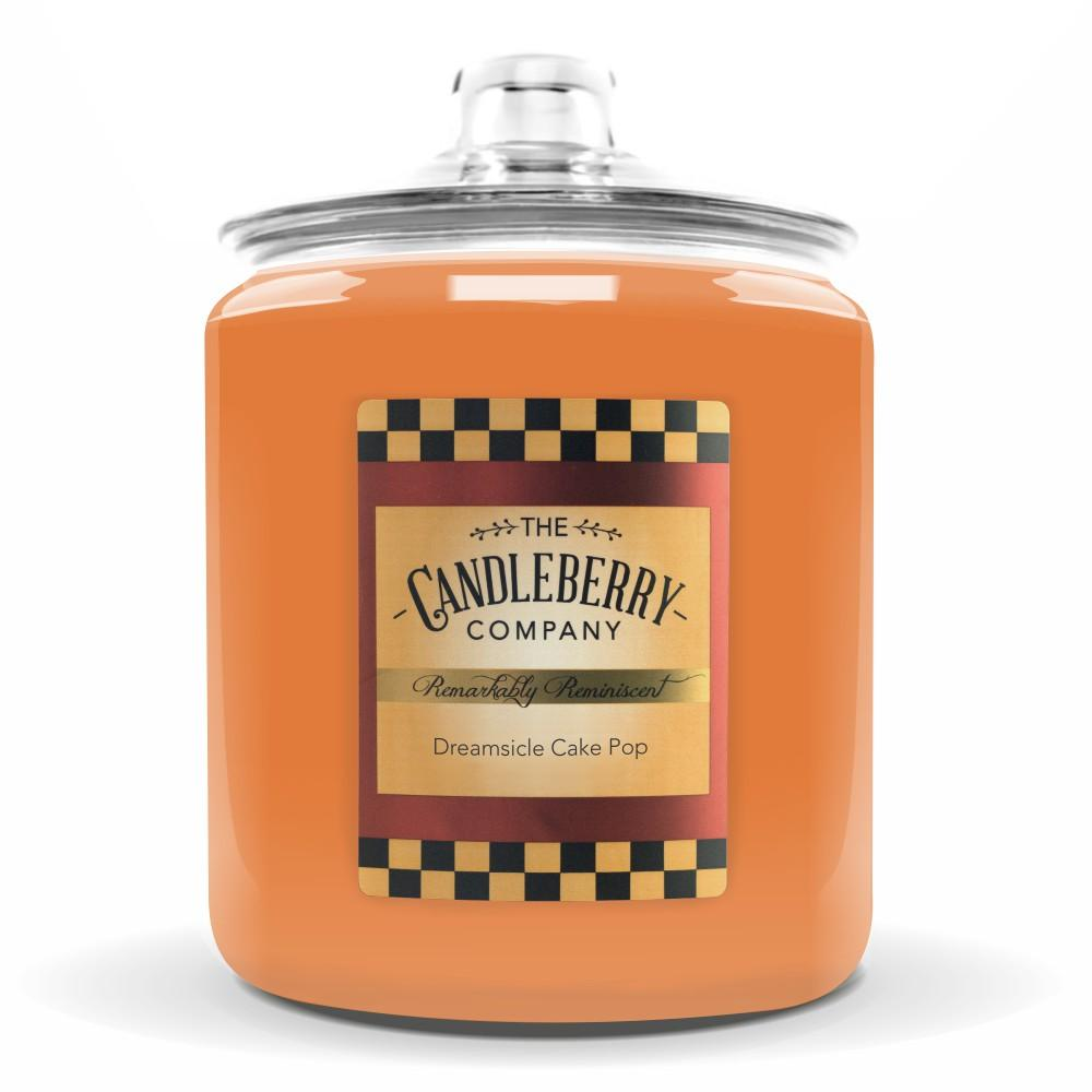 Dreamsicle Cake Pop™, 160 oz. Jar, Scented Candle 160 oz. Cookie Jar Candle The Candleberry Candle Company