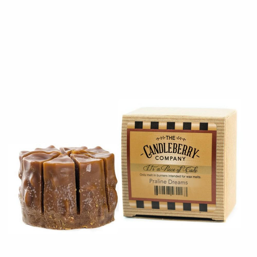 "Praline Dreams™, ""It's a Piece of Cake"" Scented Wax Melts ""It's a Piece of Cake""® Wax Melts The Candleberry Candle Company"