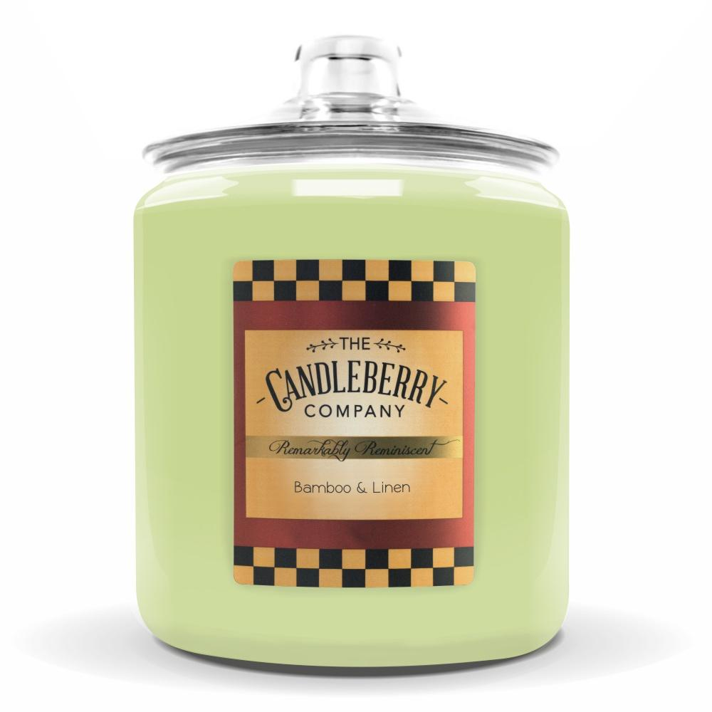 Bamboo & Linen™, 160 oz. Jar, Scented Candle 160 oz. Cookie Jar Candle The Candleberry Candle Company