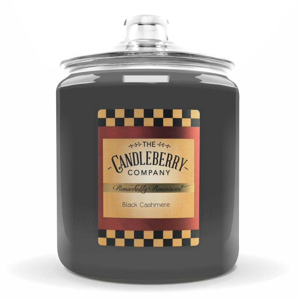 Black Cashmere™, 160 oz. Jar, Scented Candle 160 oz. Cookie Jar Candle The Candleberry Candle Company
