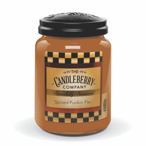 Spiced Punkin Pie™, 26 oz. Jar, Scented Candle 26 oz. Large Jar Candle The Candleberry Candle Company