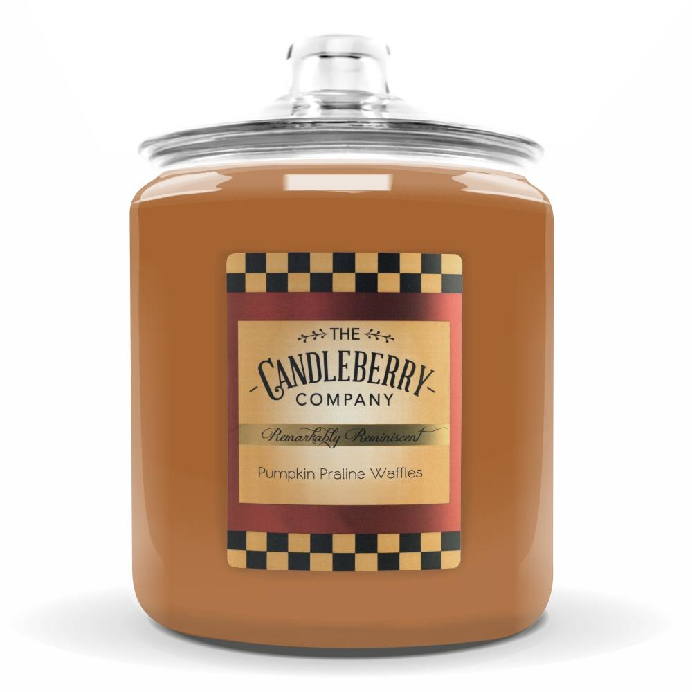 Pumpkin Praline Waffles™, 160 oz. Jar, Scented Candle 160 oz. Cookie Jar Candle The Candleberry Candle Company